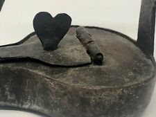 Lampe à Huile de Cave Fer Forgé XVIII ème Wrought Iron Oil Lamp 18 th Antique