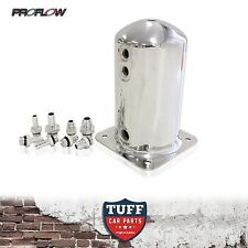 Proflow Fuel Surge Tank Swirl Pot suit Bosch 044 1.5lt with AN & Barb Fittings