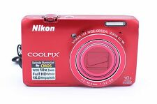 Nikon COOLPIX S6300 16.0 MP Digital Camera - Red