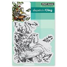 PENNY BLACK RUBBER STAMPS SLAPSTICK CLING SNOWY PERCH NEW cling STAMP