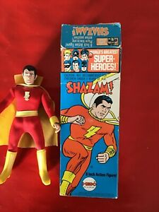 SHAZAM MEGO Vintage 8 Inch Action Figure Box Original 1972 Super Heroes 1307