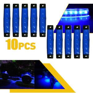 10 Pods Underglow Lights Blue Strip LED Underbody Rock Light for Jeep ATV Truck