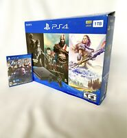 Sony PlayStation 4 PS4 Slim 1TB Console + Controller + Games Bundle - OPEN BOX