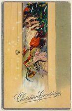 Weihnachten WEIHNACHTSMANN / SANTA X-Mas * Vintage 1910s PC Embossed Litho