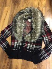 Ralph Lauren Ladies Denim&Supply Cardigan With Detachable Fur Size S