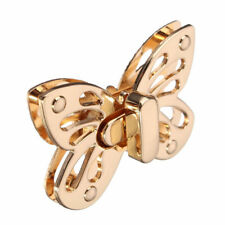 Clasp Gold Tone Case Coin Purse Accessories Bag Belt Twist Lock Butterfly 1PC