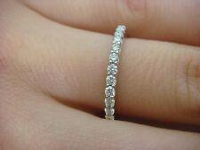0.30 CT T.W. THIN DIAMOND WEDDING BAND 14K WHITE GOLD 1.6 MM WIDE SIZE 5.75