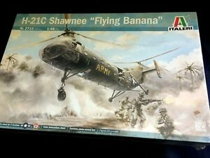 H-21C Flying Banana Copter 1/48 Scale Italeri Model #2774, NOS, FREE US SHIPPING