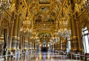 VLIES Fototapete-PALAST-(3275V)-Gold Barock Architektur Wand Malerei Kunst Art