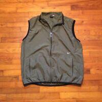 Nike Mens Forest Green Zip Up Windbreaker Jacket Vest Size XXL