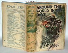 Around the World In Eighty Days - Jules Verne, Ward Lock & Co, Hardback  c1930+