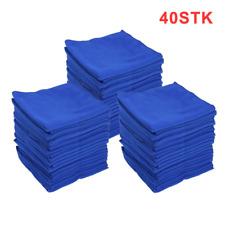 Mikrofasertücher40 Stück 40x40 cm blau Mikrofasertuch Microfasertücher