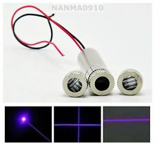 50mW Dot/Line/Cross Focusable 405nm Violet/Blue Laser Diode Module w Driver In