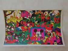 Original Vtg 1970's Walt Disney Characters Naughty Black Light Poster Card 8x5