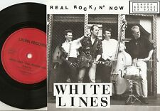 WHITE LINES REAL ROCKIN` NOW EP AUTOGRAPHED GERMAN 45+PS 1993 ROCKABILLY ELVIS
