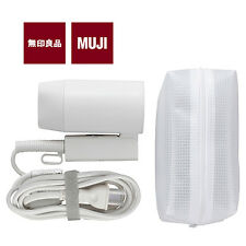 [MUJI MoMA] TRAVEL HAIR DRYER Two Power Voltages 1000W Compact w/ Pouch NEW
