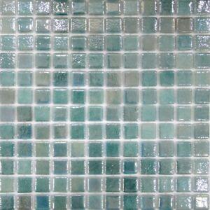 Designer Pool Glass Tahiti Pearl Mosaics Waterline 25x25mm Sheets Turkish Tile