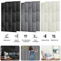 3D Tile Brick Wall Sticker XPE Panel Foam Self-adhesive Wallpaper Peel & Stick