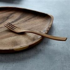 Francfranc Natural Teak Wood Dinner Fork Cutlery Flatware Silverware Kitchenware