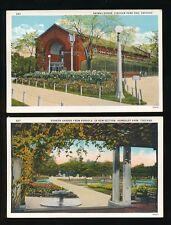 USA CHICAGO Animal House & Garden Lincoln Park Zoo 2 PPCs c1930/50s?