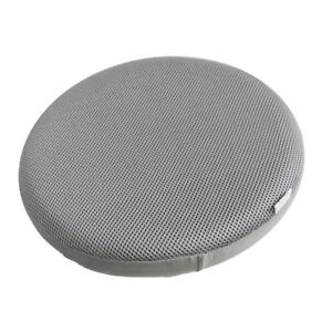 14inch Dia Gray Round Bar Stool Cover Chair Slipcover Protector Cushion Pad