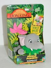 Lion King Finger Puppet Elephant Plush Disney 1994 Stuffed Toy