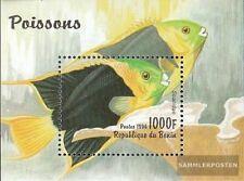Benín Bloque 23 (compl.edición) nuevo con goma original 1996 peces