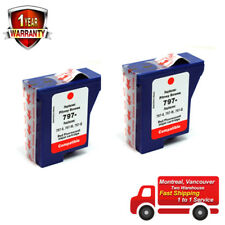 2PK Compatible Red Fluorescent Ink Cartridge For Pitney Bowes 797-0 797-M 797-Q