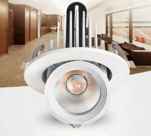 5W LED COB Recessed Ceiling Light Gimbal Angle Orientable Spotlight Lamp