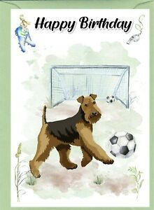 """Airedale Terrier Dog (4""""x 6"""") Birthday Card with blank inside - by Starprint"""