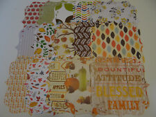 THANKSGIVING PATTERNED PAPER DIE CUT STACK DOILY LOT FALL HOLIDAY