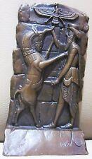 King Art Deco Old Vintage Bookend Statue Metal Bronze Sculpture Book End (001)