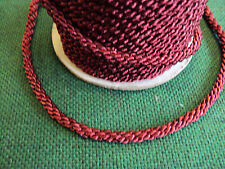25 METRE OF DK RED 474 GOOD QUALITY MULTI-PURPOSE CORD FOR FURNISHING & CLOTHING