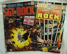 SGT ROCK OUR ARMY AT WAR DC ISSUES 283 AND 288 1969-1975 ST
