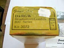 On3 D&RGW Dropbottom Gondola Kit Grandt Line # 3072 Un opened packages W/ Instru