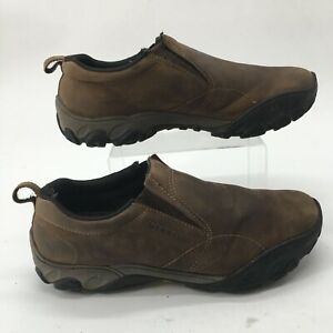 Merrell Mens 13 Olmec Deepwood Slip On Outdoor Sneakers Brown Leather J63067