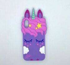 IPhone X unicorn character design silicon rubber case - VIOLET