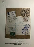 1944 Cairo Egypt Parcel Label Censored Cover To NZEF