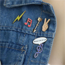6pcs/set Cute Collar Pin Badge Corsage Cartoon Note Brooch Pins Jewellery