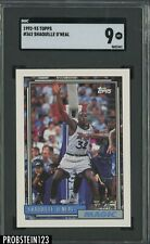 1992-93 Topps #362 Shaquille O'Neal Magic RC Rookie HOF SGC 9 MINT