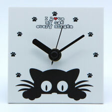 Orologio Gatto Moderno da tavolo e da parete, Design, Silenzioso, Made in Italy