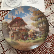 "1986 LUCKEL IDYLLIC VILLAGE LIFE PLATE ""THE BLACKSMITH"" 1ST in Series 7 5/8"""