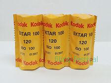 3 rolls KODAK EKTAR 100 120 Color Film Medium Format