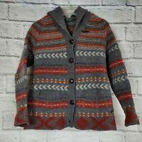 Woolrich Womenns Cumberland Lambswool Cardigan Sweater Size XL