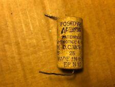 Vintage 1950s Aerovox 25 uf 25v Paper Capacitor Guitar Tube Amp Cap