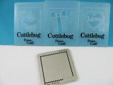CUTTLEBUG 3 Celebration Stamps Embossing Folders blank stamp die Provo Craft