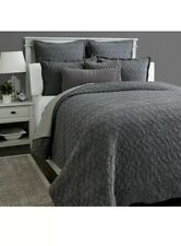 New! Hudson Park Interlock F/ Queen Comforter Cover and Two Standard Shams.
