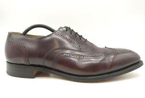 Johnston Murphy Optima USA Burgundy Leather Wingtip Lace Up Oxfords Men's 12 D