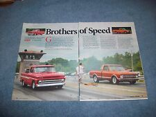 "1967 1965 Chevy C10 RestoMod Pickup Truck Article ""Brothers of Speed"" BBW SWB"
