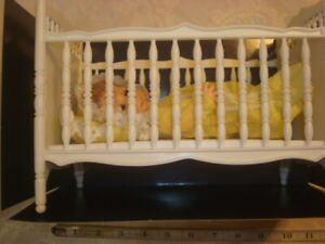Sears Baby Anna in her crib vintage baby doll